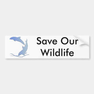 Dolphine's Save Our Wildlife Bumper Sticker