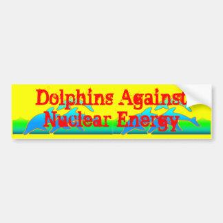 Dolphins Against Nuclear Energy Anti-Nuke Bumper Sticker