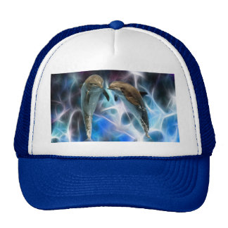 Dolphins and fractal crystals cap