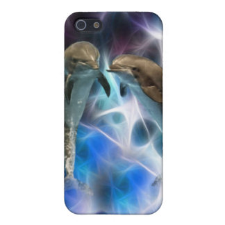 Dolphins and fractal crystals case for the iPhone 5