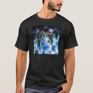 Dolphins and fractal crystals T-Shirt