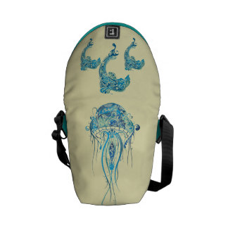 Dolphins and Jellyfish  Mini Zero Messenger Bag
