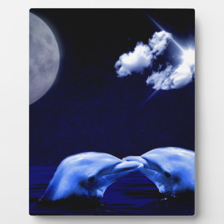 Dolphins and Moon Plaque