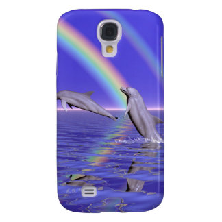Dolphins and Rainbow Galaxy S4 Case