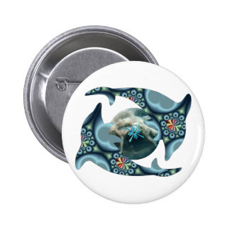 Dolphins at Dione 6 Cm Round Badge