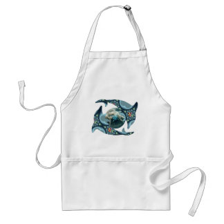 Dolphins at Dione Adult Apron