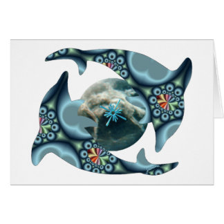 Dolphins at Dione Greeting Card