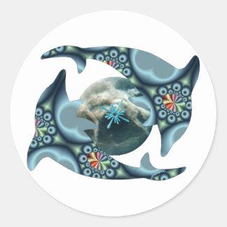 Dolphins at Dione Round Sticker