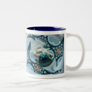 Dolphins at Dione Two-Tone Mug