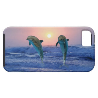 Dolphins at sunrise iPhone 5 cover