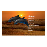 Dolphins at sunset pack of standard business cards