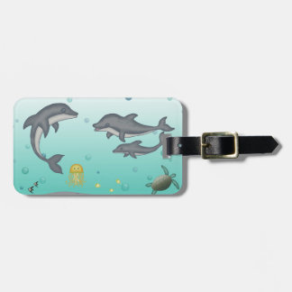 Dolphins Bag Tag