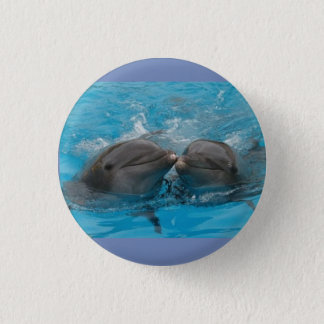 Dolphins Blue Button