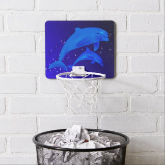 Dolphins blue mini basketball hoop