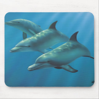 Dolphins by Andrew Patsalou Mouse Mat