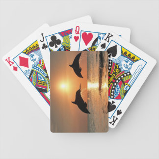 Dolphins by Sunset Bicycle Playing Cards