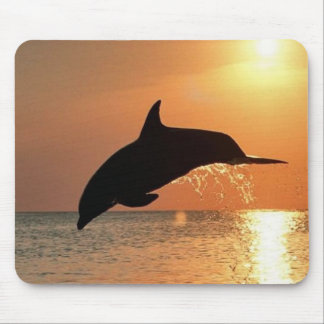 Dolphins by Sunset Mouse Mat