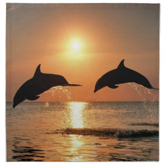 Dolphins by Sunset Napkin