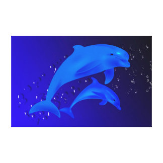 Dolphins Canvas Print