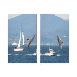 Dolphins Canvas Print
