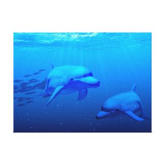Dolphins Canvas Prints