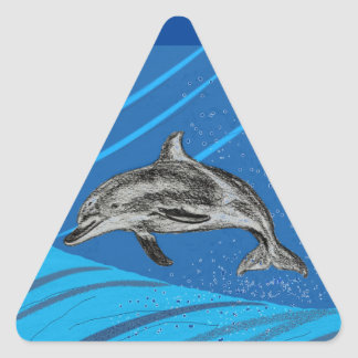 dolphins-color triangle sticker