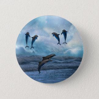 Dolphins fantasy 6 cm round badge