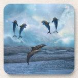 Dolphins fantasy beverage coaster
