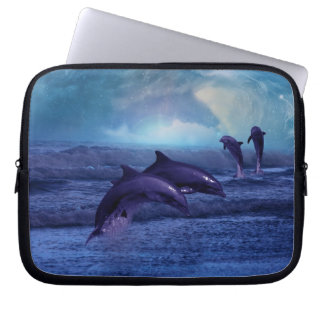Dolphins fantasy laptop sleeve