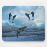 Dolphins fantasy mouse pad