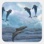 Dolphins fantasy square sticker