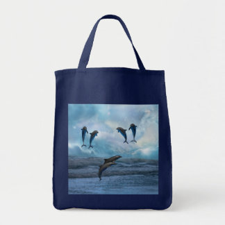 Dolphins fantasy tote bag
