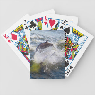 Dolphins Followings Boat Bicycle Playing Cards
