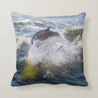 Dolphins Followings Boat Cushion