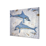 Dolphins (fresco) stretched canvas prints