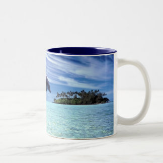 Dolphins Galore Two-Tone Coffee Mug
