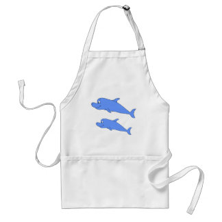 Dolphins in blue. standard apron