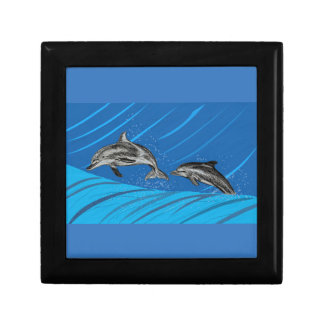 Dolphins Jumping out of the Sea Gift Box