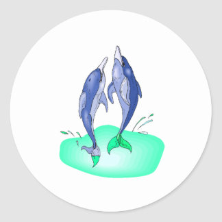 Dolphins Jumping Sticker