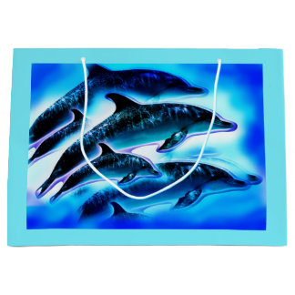 Dolphins Large Gift Bag