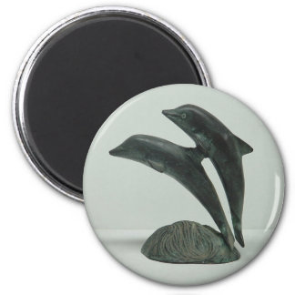 DOLPHINS magnet - round