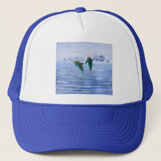 Dolphins make ripples trucker hat