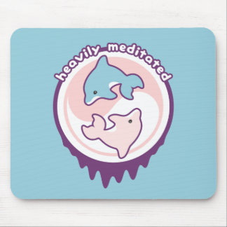 Dolphins Meditating with Yin Yang Mouse Mat
