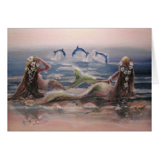 Dolphins & Mermaids Note Card