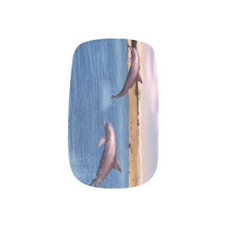 Dolphins Minx Nail Art