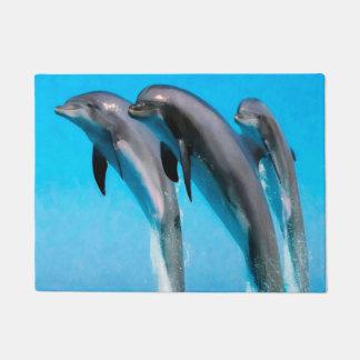 Dolphins Nautical Ocean 18 x 24 Door Mat