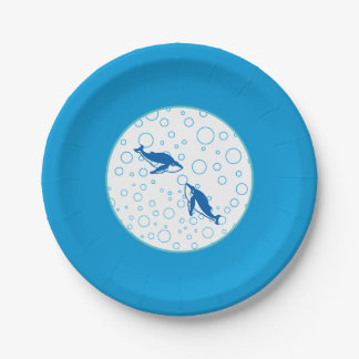 Dolphins Paper Plate