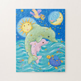 Dolphins Play Jigsaw Puzzle