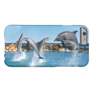 Dolphins playing and doing tricks in the ocean barely there iPhone 6 case