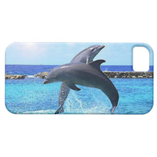 Dolphins playing and doing tricks in the ocean iPhone 5 cases